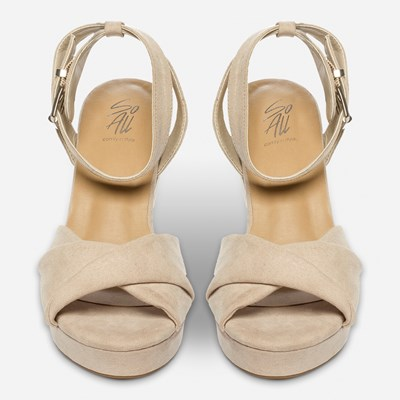So All Sandaletit - Beige,Beige 322309 feetfirst.fi