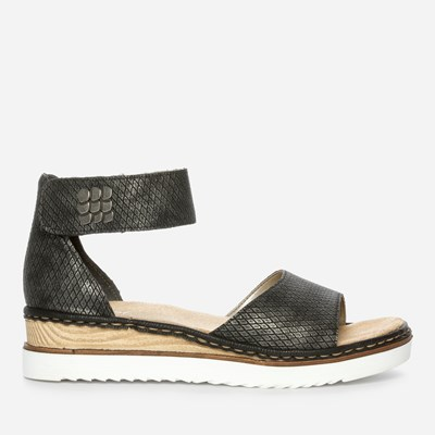 Rieker Dina Ankle Strap - Musta 307654 feetfirst.fi