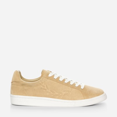 Fred Perry B721 Embossed Suede - Beige,Beige 322514 feetfirst.fi