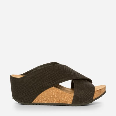 Copenhagen Shoes Frances Wedge - Musta,Musta 325378 feetfirst.fi